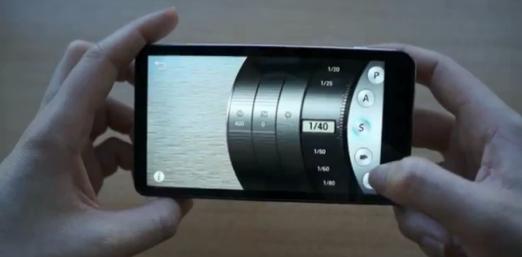 Les différents modes sélectionnables sur le Samsung Galaxy Caméra